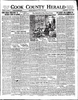 1926 - Arlington Heights edition of Cook County Herald initiated